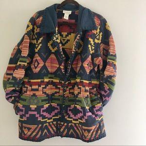🌀 vintage cotton woven aztec / tribal jacket